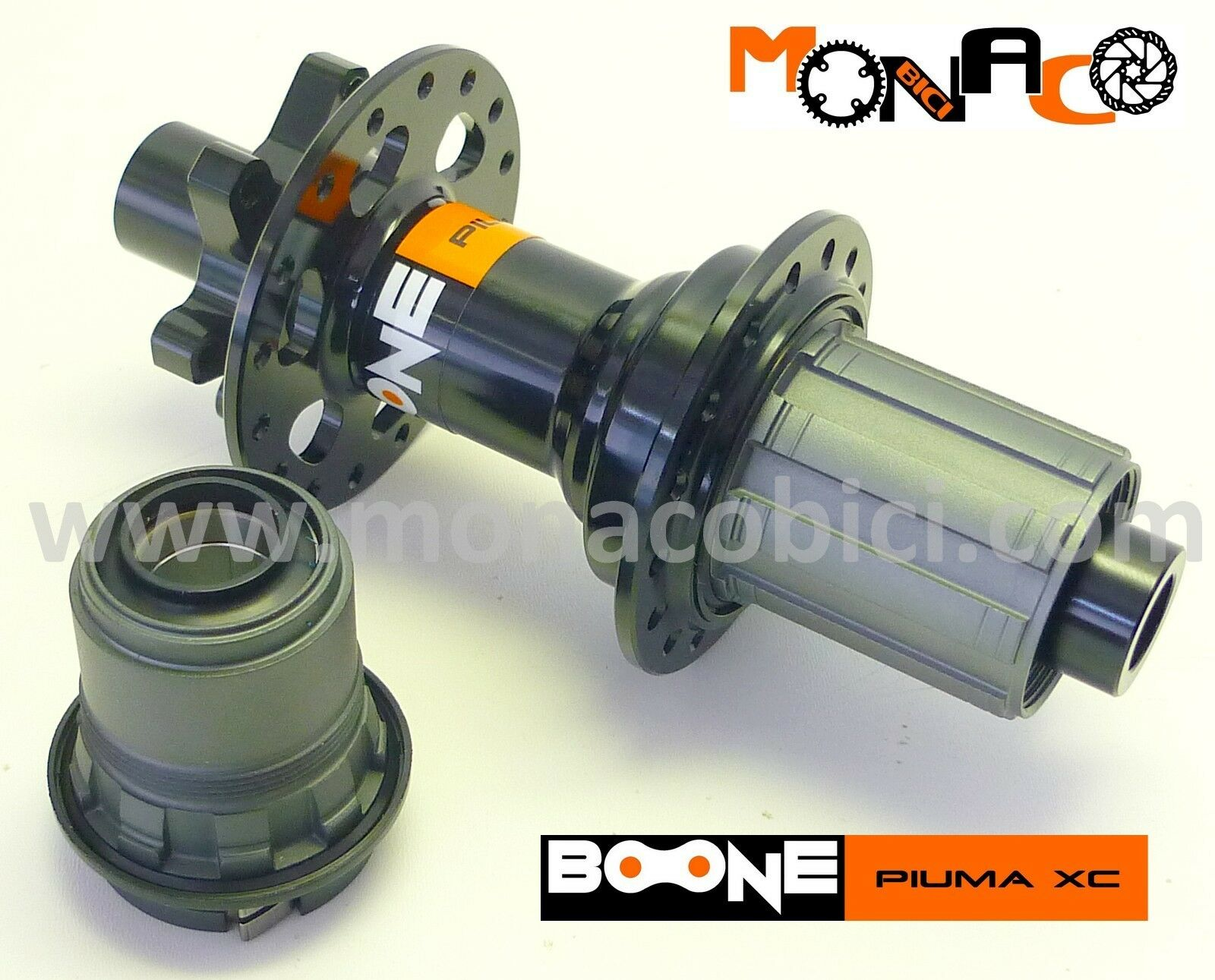 MOZZO POSTERIORE MTB BOONE PIUMA XC 142x12 negro - MTB DISCO 28 FORI