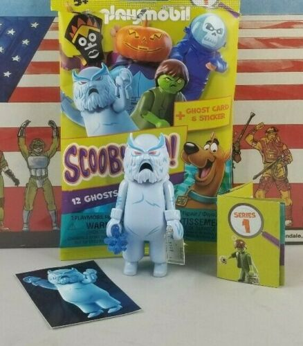 Original PLAYMOBIL SCOOBY DOO ghost villain series #1 SNOW GHOST new complete