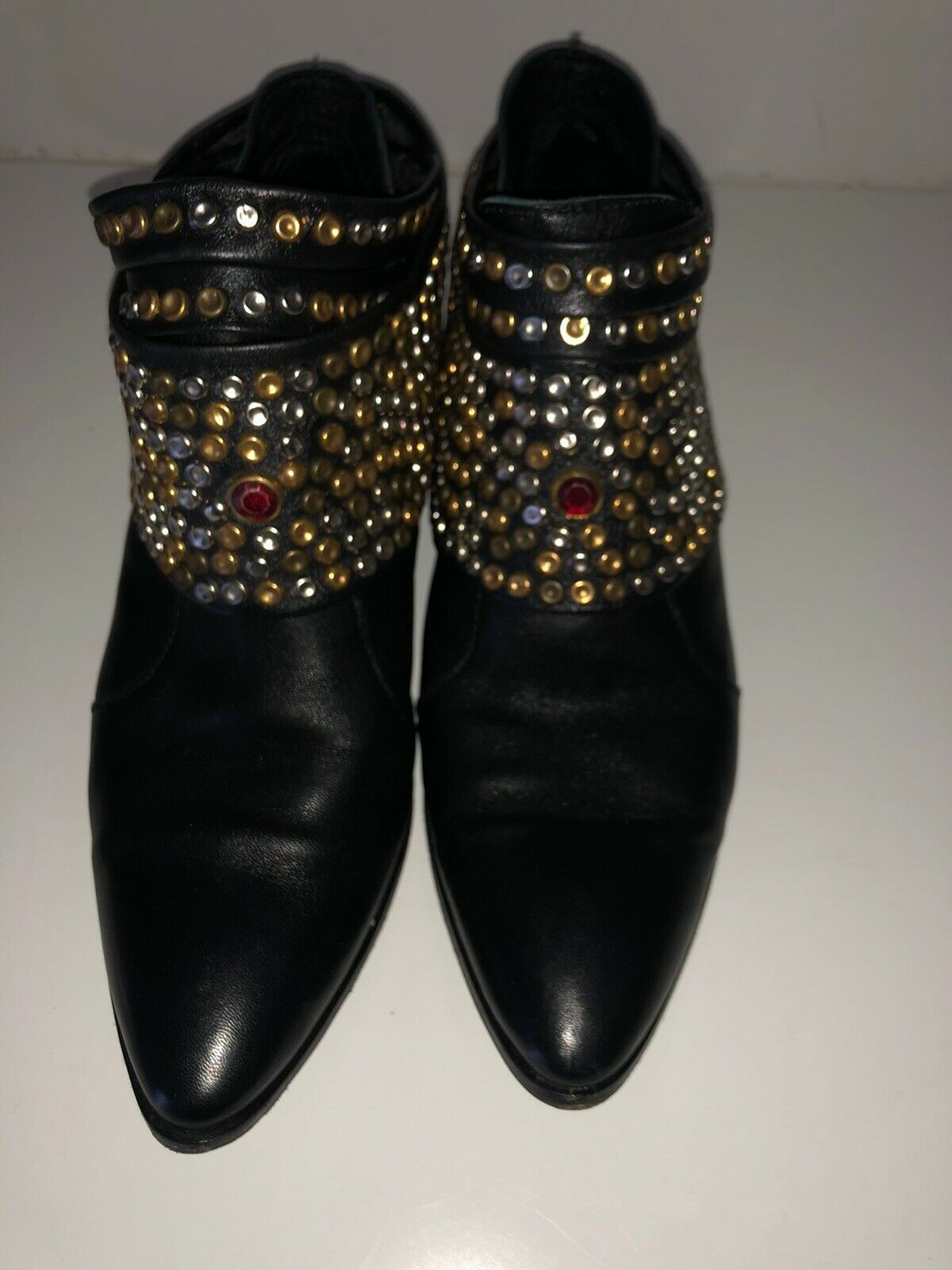 Modern Vice Collection-Chloe Studded Removable Hardware Bootie Size 37 Fits 37.5