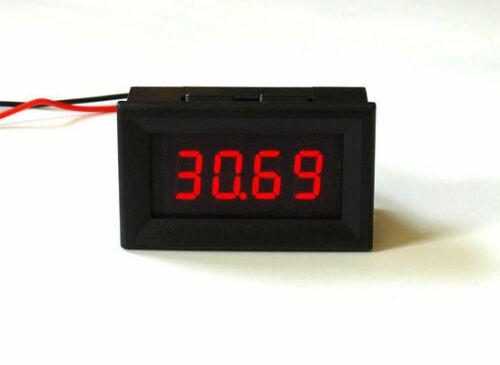 """LED installation voiture/"""" 4 postes/"""" 0000 Voltmètre 4,5-30v aucune extra tension nécessaire"""