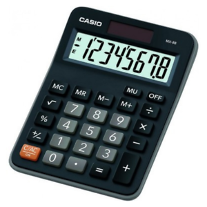 CASIO MX-8 CALCULATOR BLACK FOR OFFICE DESKTOP BUSINESS STUDENTS - MX8/MX8B-BK