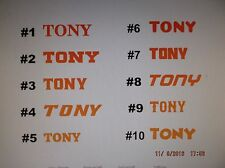 Special Order for  Name Decal Sticker, Various Colors of Vinyl Available