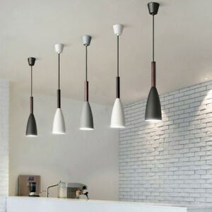 Details about Wood Pendant Light Kitchen Island Chandelier Lighting Bar  Modern Ceiling Light