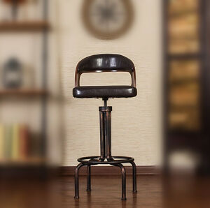 Image Is Loading INDUSTRIAL RETRO RUSTIC VINTAGE IRON BAR STOOL KITCHEN