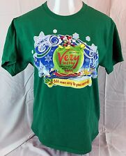 Mickeys Very Merry Christmas Party T Shirt M Green Walt Disney World Parks 2014