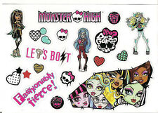 """Monster High Stickers Decal Sheet Sticker Adhesive Mattel Scary 5.75"""" x 4"""" NEW"""