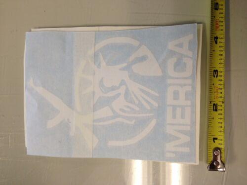 /'Merica WHITE Sticker decal Car window ar ak gun america peace jdm truck 4x4