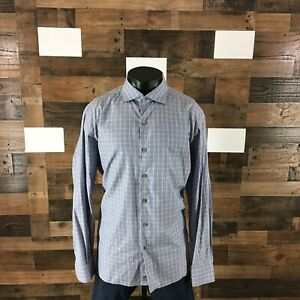 Ermenegildo-Zegna-Men-039-s-Size-3XL-Plaid-Long-Sleeve-Button-Down-Shirt