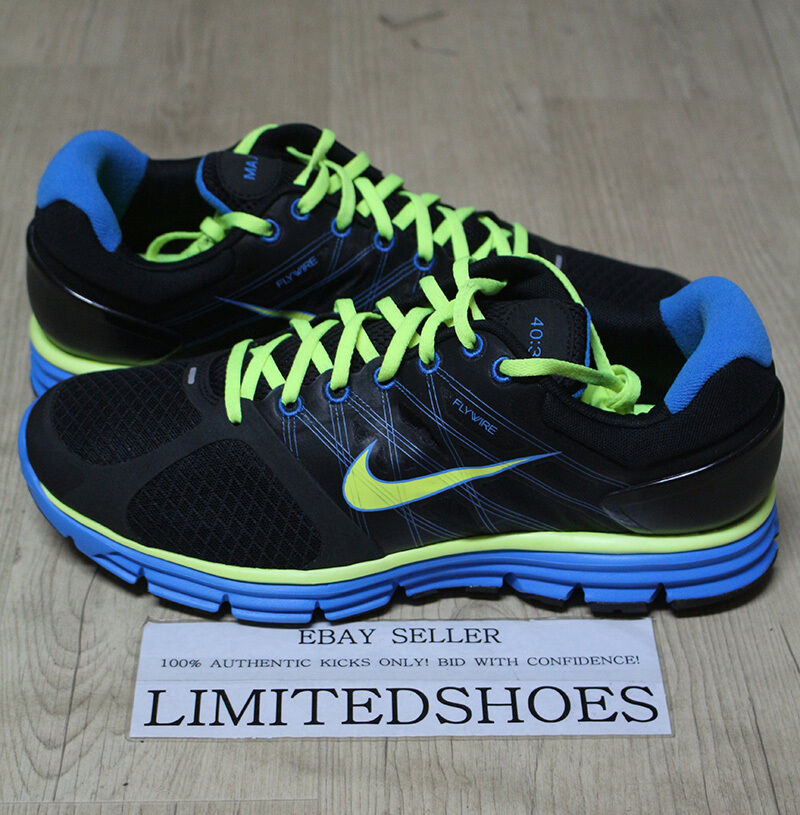 NIKE LUNARGLIDE ID BLACK NEON BLUE 419373-991 US 11.5 pink blue orange red 6 7 8