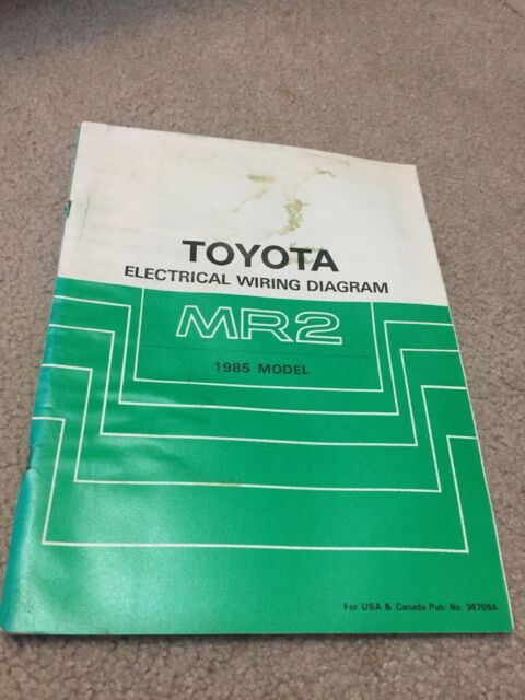 1985 Toyota Mr2 Electrical Wiring Diagram Manual Schematic