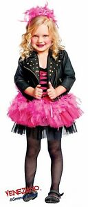de Disfraz estrella Deluxe italiana Girls rock cuero con Disfraz Made Chaqueta de wtRISqnv