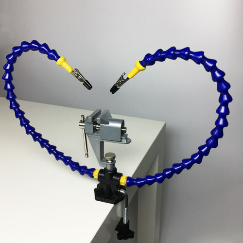 Plier Tool Flexible Arm Two Hand Soldering Iron Holder Stand Clamp Vise Clip