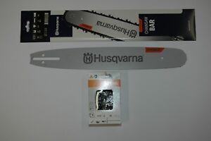 Husqvarna 340 345 38cm SWS Forst Schwert mit 3 HM Sägeketten 325 1,5mm 64TG p.f