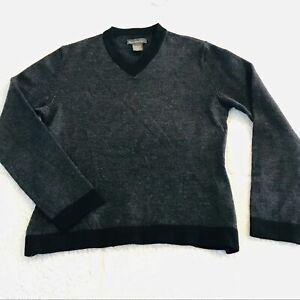 BANANA REPUBLIC Merino Wool Sweater Gray V-neck Women's Size Small S