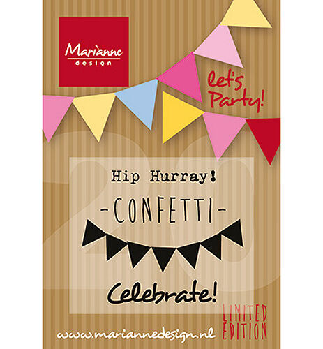 Motivstempel Clearstamps Marianne Design Wimpel-Kette Pennant lets party PP1403
