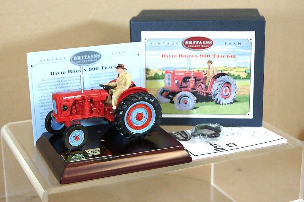 British 08716 David marrón 900 rojo Tractor New Box
