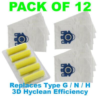 5 X Tipo G /& H Aspirapolvere Sacchetti Per Aspirapolvere Miele S5381 UK