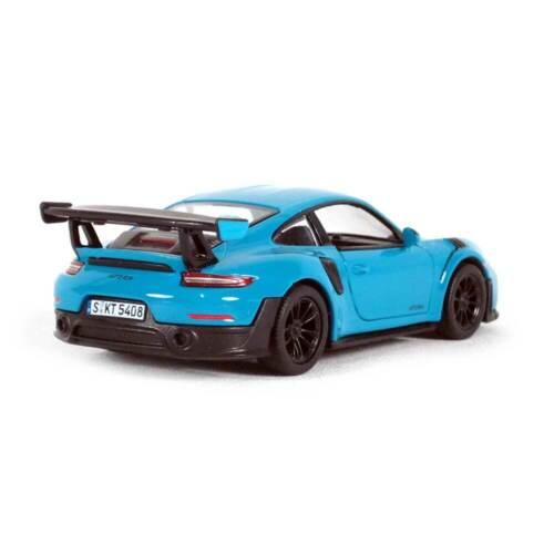 """5/"""" Die-cast Porsche 911 GT2 RS 1//36 Scale Blue"""