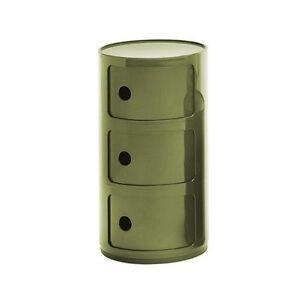 Mobile Componibile 3 scomparti Kartell verde camera bagno sala ...