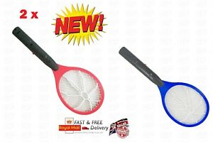 2 X électrique Zapper Bug Chauve-souris Mouche Moustique Insecte Tueur Piège Swat Swatter Raquette-afficher Le Titre D'origine