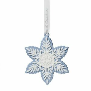 Wedgwood Christmas Ornaments 2019.Details About Wedgwood 2019 Holiday Ornaments Figural Snowflake