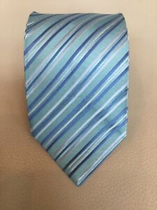 Charvet-Green-Blue-Striped-Silk-Tie-Made-in-France