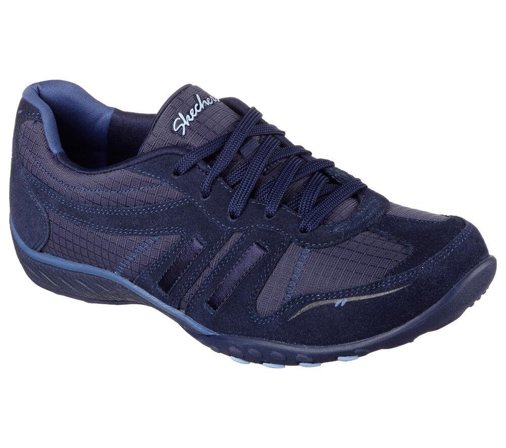 NEU SKECHERS Damen - Sneakers Wildleder Memory Foam BREATHE-EASY - Damen JACKPOT Blau 78cfab