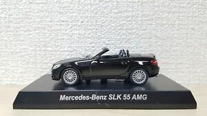 1-64-Kyosho-MERCEDES-BENZ-SLK-55-AMG-BLACK-diecast-car-model