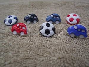 Nouveauté Boutons De Voiture-en Forme De Ou Des Ballons De Football-choix De Couleurs Et Quantités-afficher Le Titre D'origine Apparence éLéGante