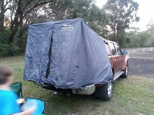 Image is loading TENT-TO-SUIT-ANY-DUAL-CAB-STYLESIDE-UTE- & TENT TO SUIT ANY DUAL CAB STYLESIDE UTE WITH A CANOPY - IN GREY ...