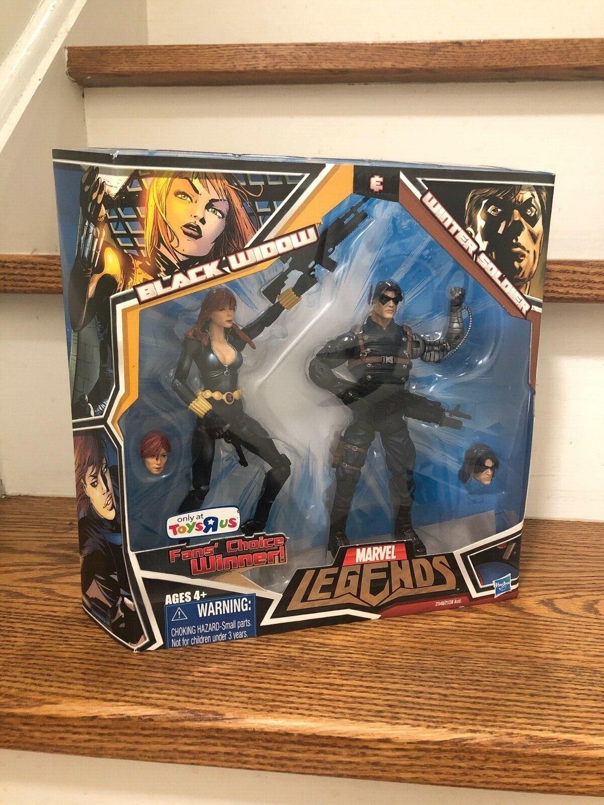 2010 Marvel Legends 2 Pack Black Widow & Winter Soldier Sealed MISB TRU Excl.