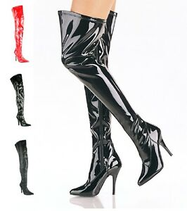 d721a5d8261 WOMENS LADIES KINKY SEXY FETISH OVER THE KNEE THIGH HIGH STILLETO ...