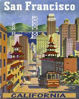 Golden Gate Bridge Streets San Francisco California 16x20 Vintage Poster Free Sh
