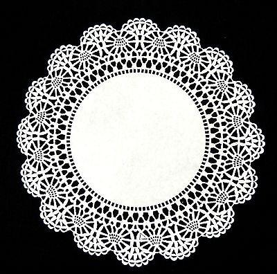 "Round White Paper Lace Doily 4/"" 6/"" 8/"" 10/"" WHITE Cambridge Lace PAPER DOILIES"