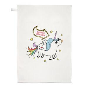 Funny Crazy Unicorn Man Tea Towel Dish Cloth