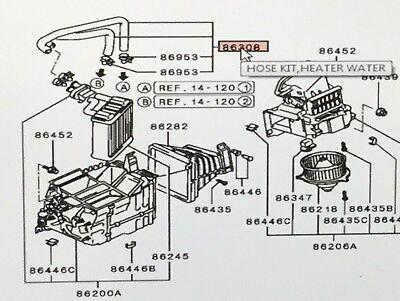 Heater Hose Kit Montero  Genuine Mitsubishi OEM Parts