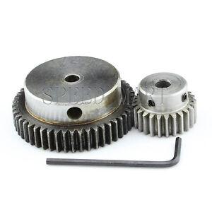 1M50T-25T Module 1 Motor Metal Gear Wheel Set Kit Ratio 2:1 Wheelbase 37.5mm