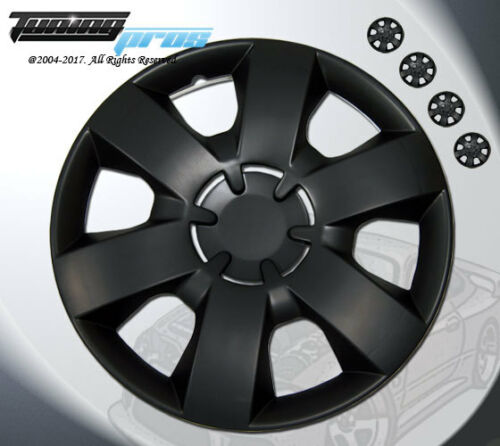 """Matte Black Style 226 14 Inches Hubcap Wheel Cover Rim Skin Covers 14/"""" Inch 4pcs"""