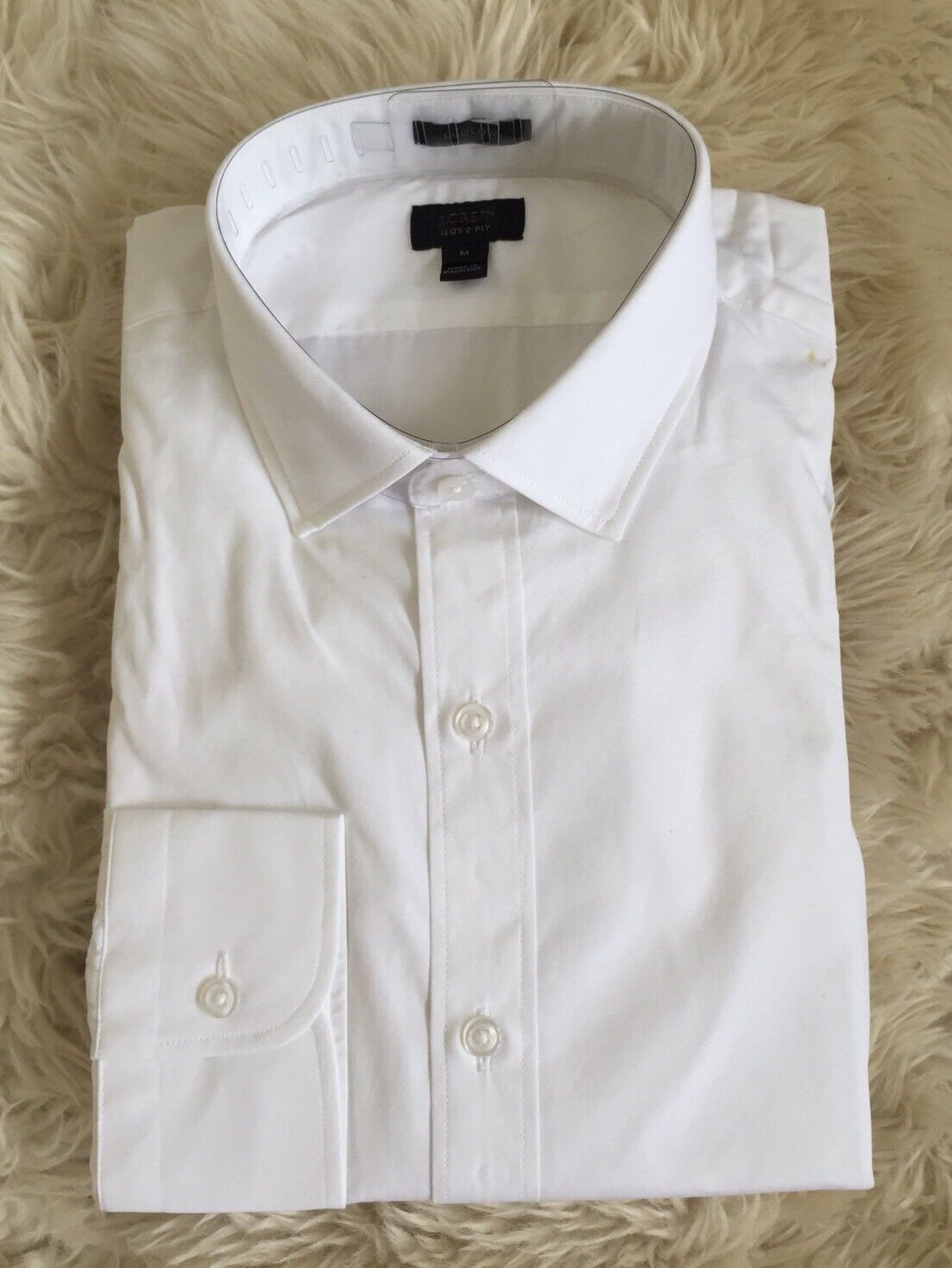 New J Crew  Ludlow Spread Collar Shirt M White suiting office work 99452