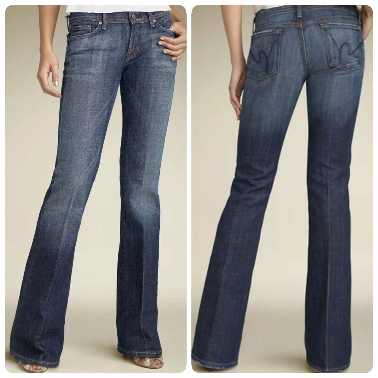 Citizen of Humanity Women's Jeans Straight Leg bluee Size 30