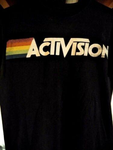 Atari ACTIVISION Video Game Logo Rainbow Graphic T