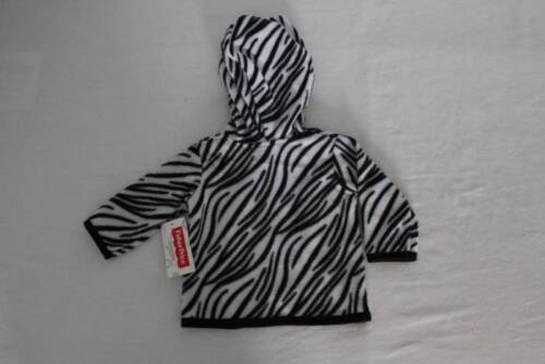NEW Baby Girls Hooded Jacket 3-6 Month Zebra Print Hoodie Zip Soft Warm Infant