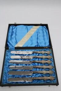 Biedermeier-Messer-Set-Silber-F-W-Tilmes