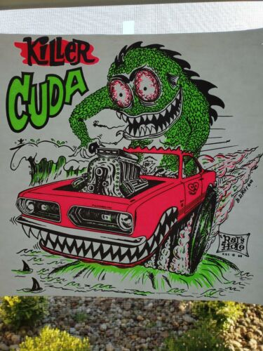 Vintage Car Tshirt Transfer Killer Cuda Rat/'s Hole