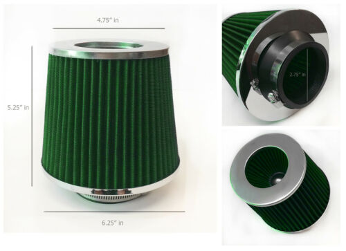 "GREEN 2.75/"" 70mm Cold Air Intake Cone Filter For Regal Roadmaster Park Ave"