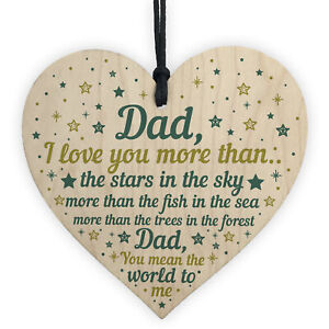 Image Is Loading Dad I Love You Wooden Heart Fathers Day