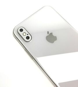 lowest price 3ead6 f6c6e Details about iPhone X silver camera lens cover vinyl skin, Fits X, XS, XS  Max
