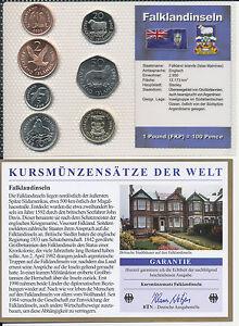 Falklandinseln Kms 7 Münzen Aus 1998 2004 Unc Satz Mit Btn