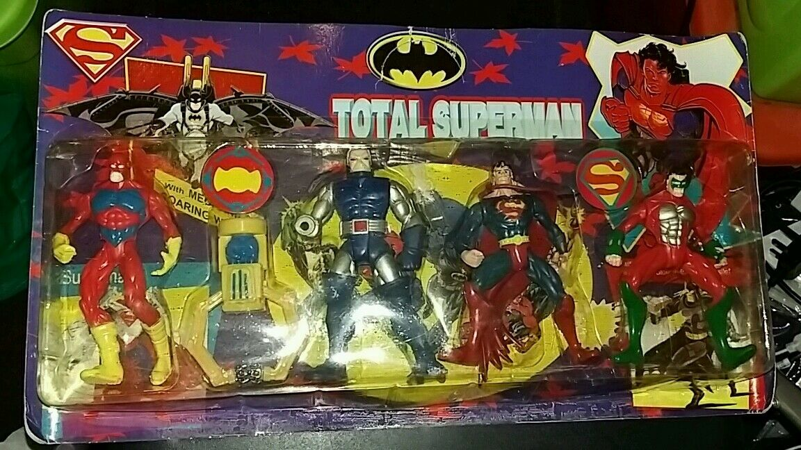 Superman bootleg JLA action figure set the flash green lantern darkseid