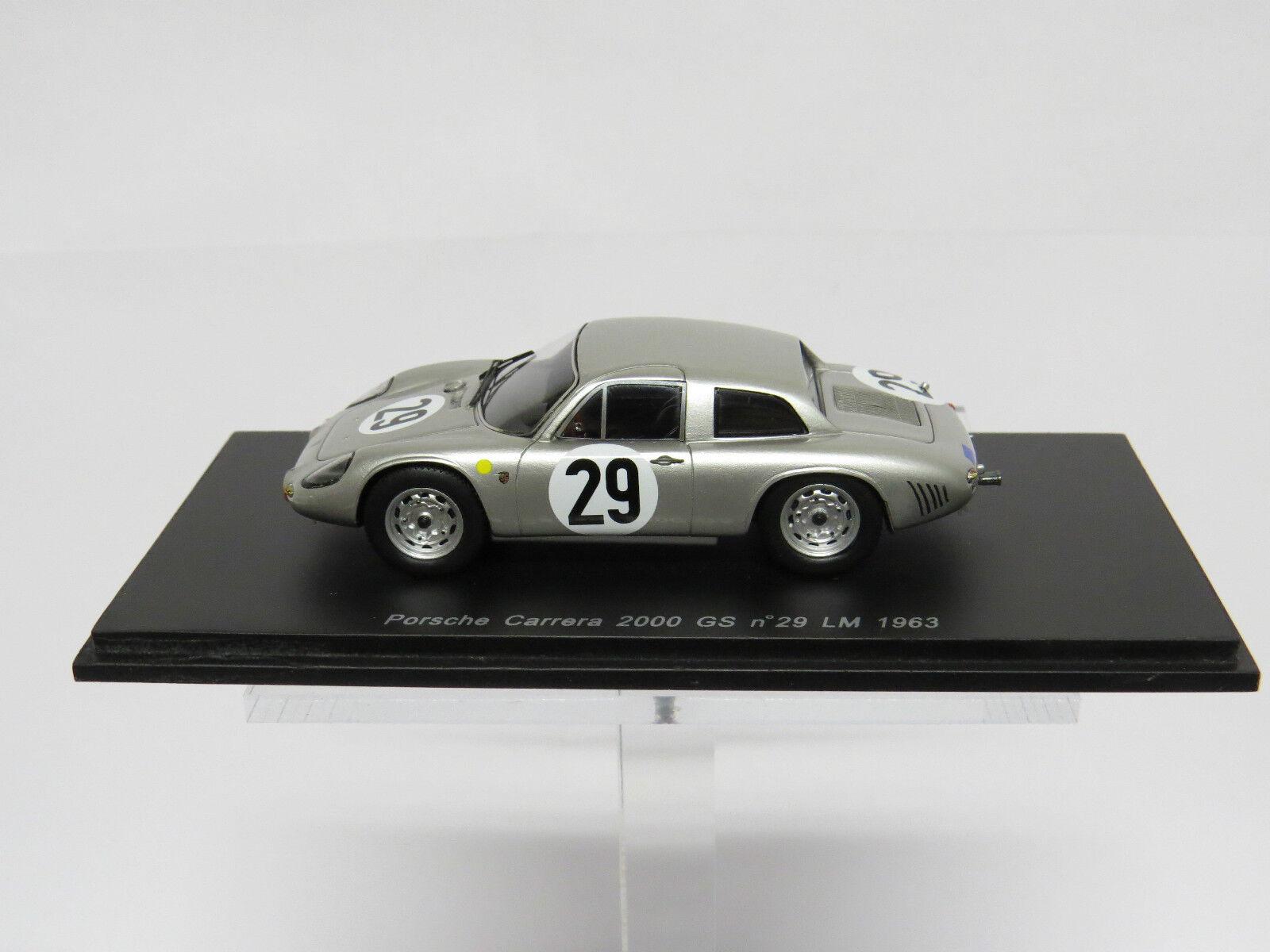 SPARK - 1 43 Porsche Carrera 2000 GS GT  29 LM '63 - S1967